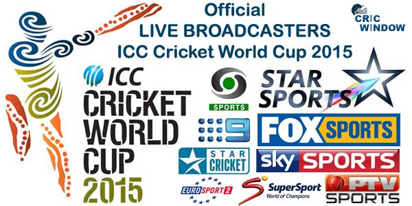 Live Broadcasters list of ICC Cricket World Cup 2015