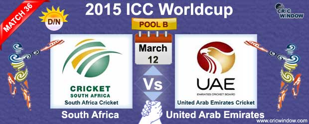 South Africa vs UAE Match-36