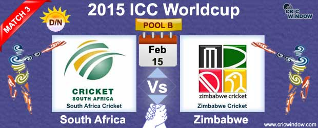 South Africa vs Zimbabwe Match-3