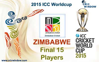 Zimbabwe final 15 squad for icc worldcup 2015